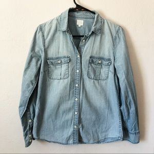 J. Crew Factory The Perfect Chambray Shirt